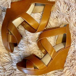 Jessica Simpson Brown Wedge Heels